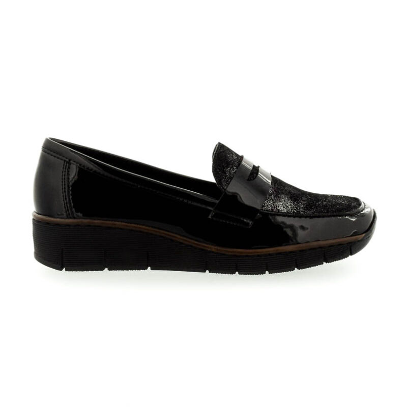 Rieker női félcipő schwarz01 36-41 fekete  181460_A