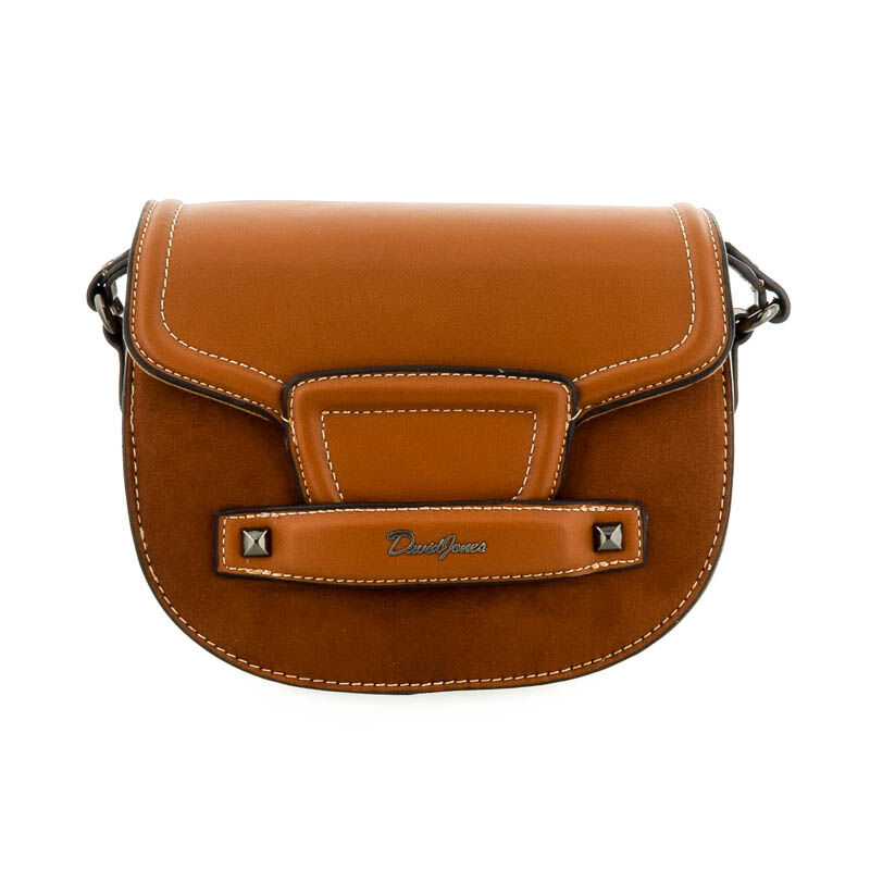 David Jones női műbőr táska cognac barna  182292_A