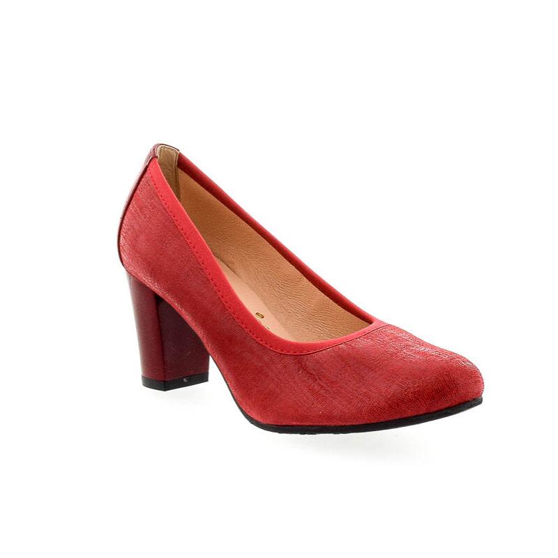 Bioeco bőr pumps 1233+0433 piros 182352_B.jpg