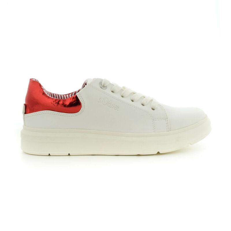 S.Oliver női sportcipő wht-red158 fehér  184360_A
