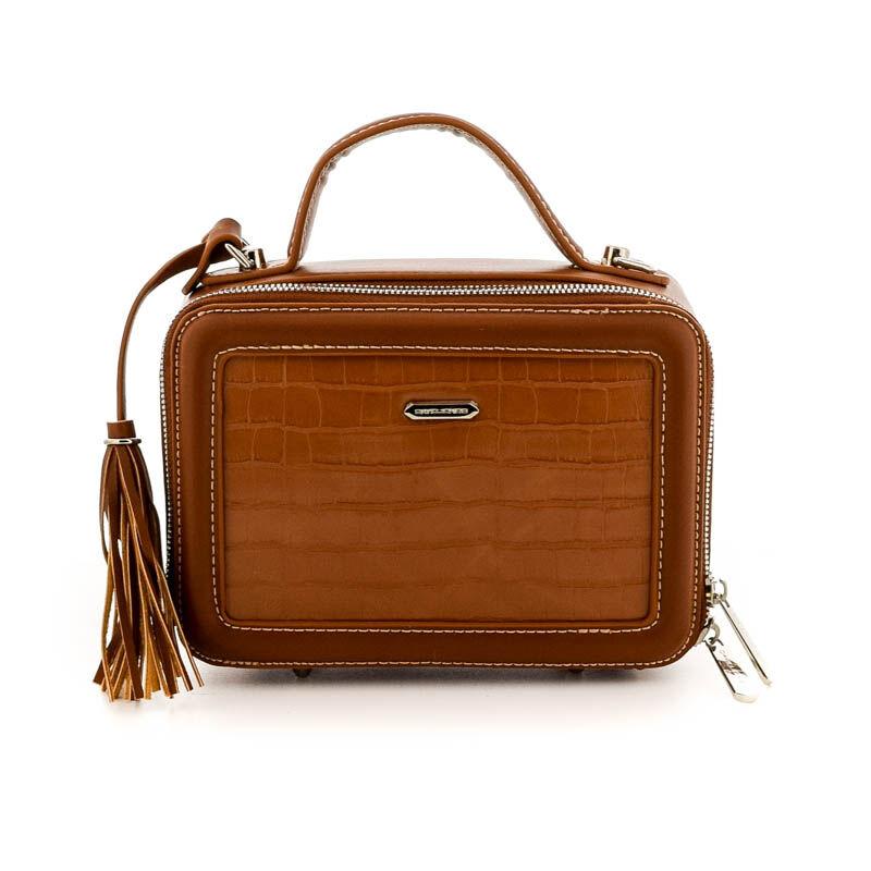 David Jones női műbőr táska cognac barna  184780_A