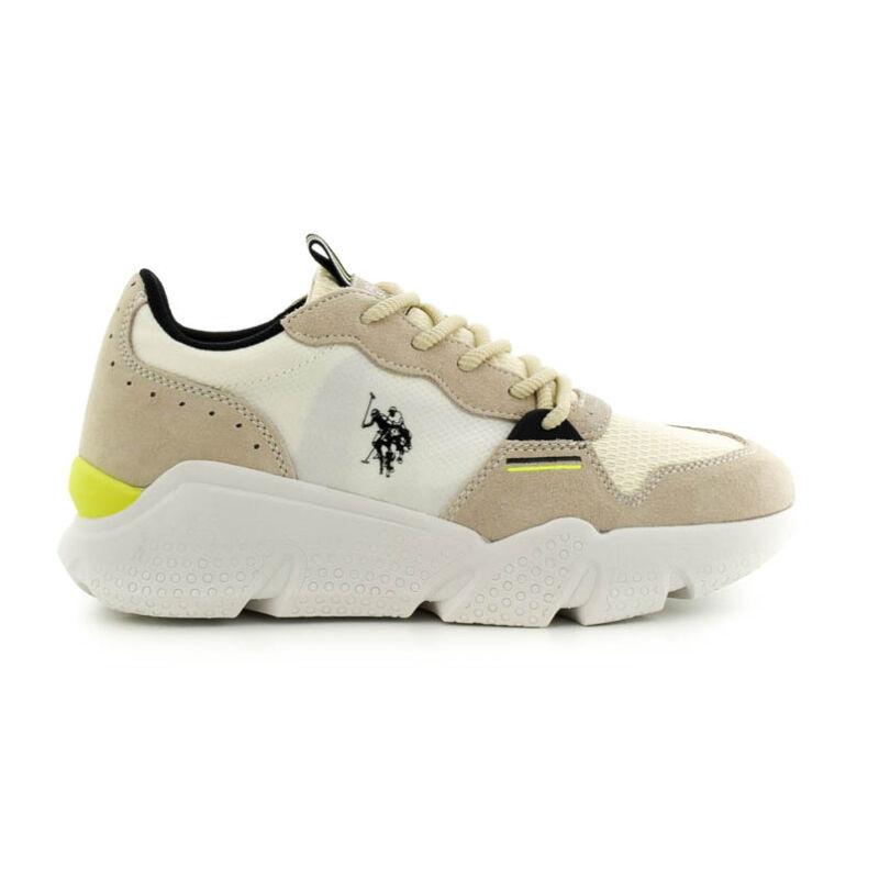U.S.Polo sneaker crema suede jég  185171_A