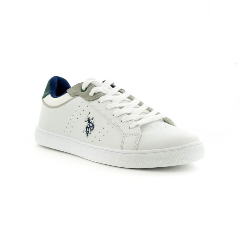 U.S.Polo fűzős sneaker white-green 185183_B.jpg