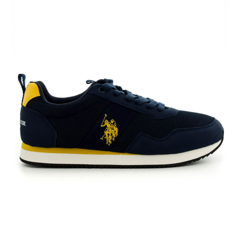 U.S.Polo fűzős sneaker dark blue-yellow kék  185188_A
