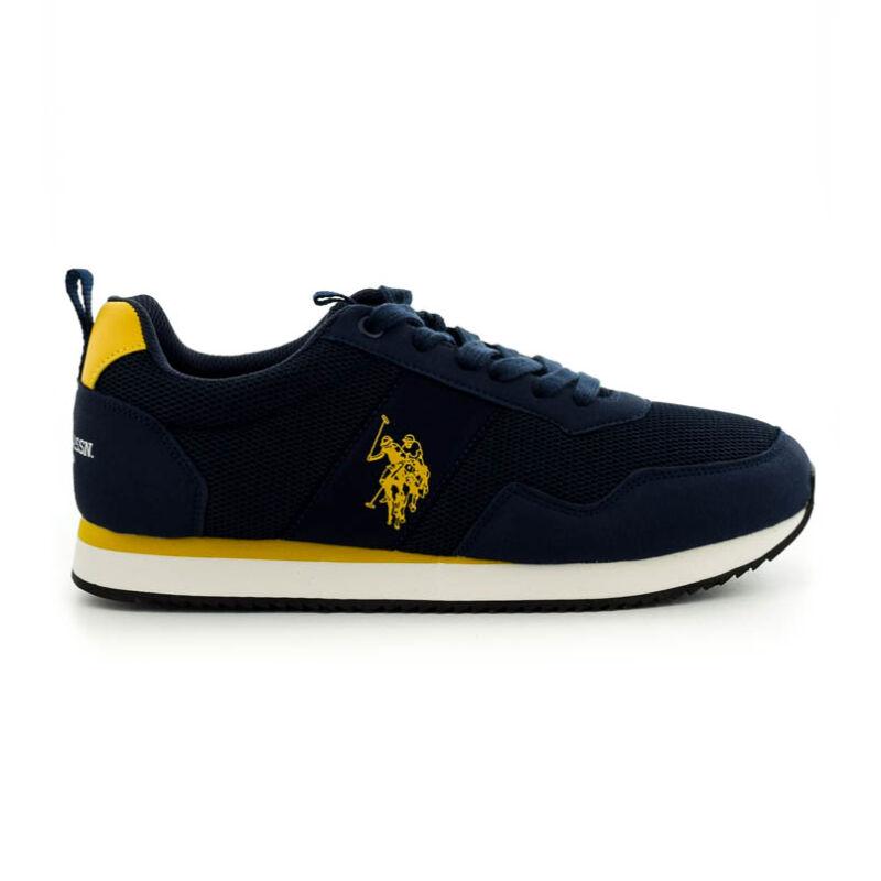 U.S.Polo fűzős sneaker dark blue-yellow kék  185188_A