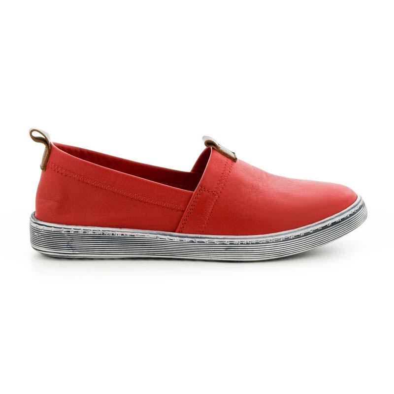 La Pinta bőr mokaszin red  piros  185249_A