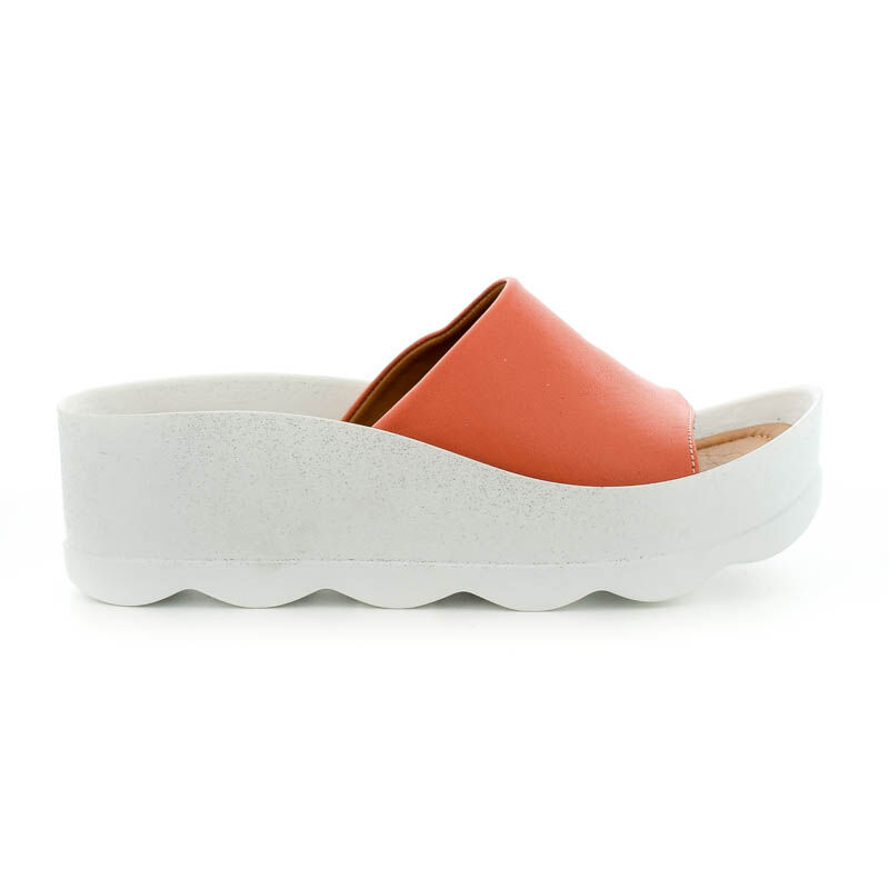 La Pinta bőr papucs pomegranat leather narancssárga  185250_A